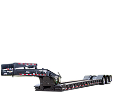Hydraulic-mechanical-Gooseneck-LK-60-Ton-trailer