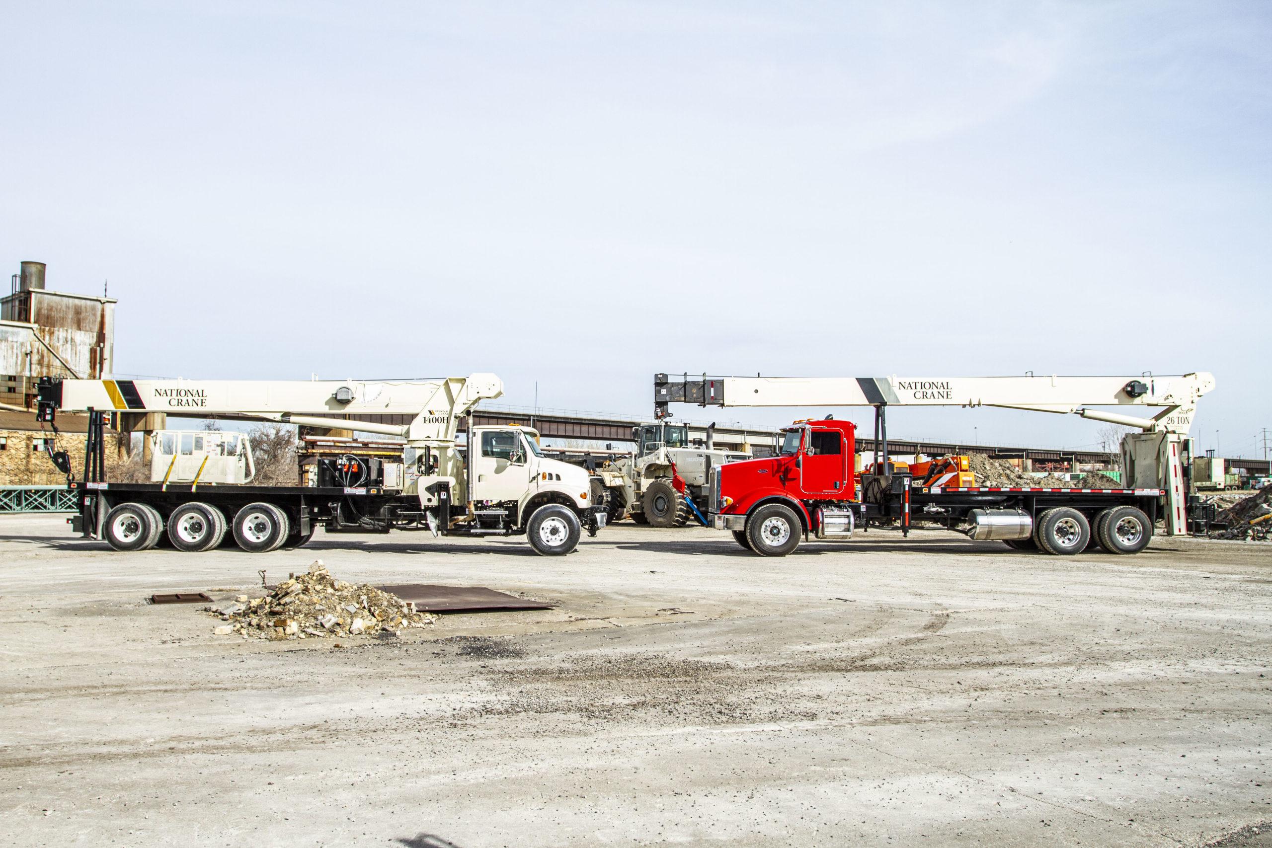 used equipment, two crane trucks