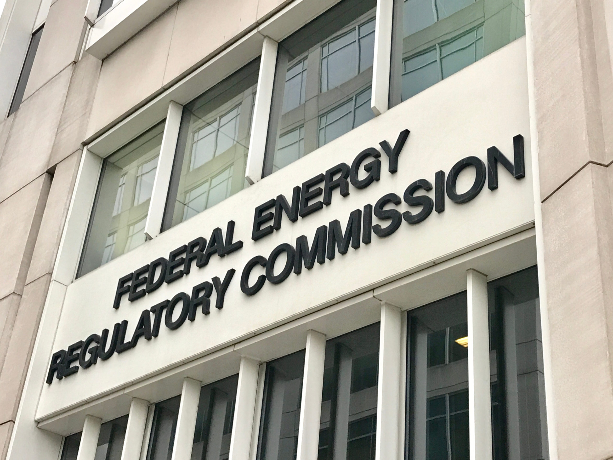 FEDERAL ENERGY REGULATORY COMMISSION- sign at entrance to headquarters building where NERC compliance is monitored